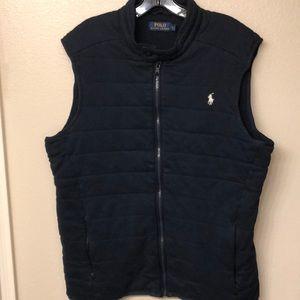 polo ralph lauren navy cotton vest blue size L